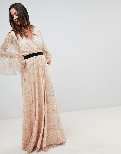 Y.A.S All Over Lace Wrap Maxi Dress in rose - Dress by Y.A.S, This is a bit of you, V-neck, Cross-over...