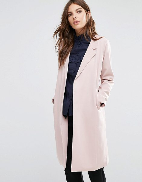 "Y.a.s Anna Trenchcoat in pink - """"Coat by Y.A.S, Woven fabric, Notch lapels, Self-tie..."