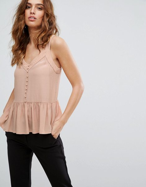 "Y.A.S Button Down Top - """"Top by Y.A.S, Lightweight woven fabric, V-neck, Button..."
