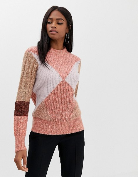 Y.a.s color block knit sweater in rosedawnblocking