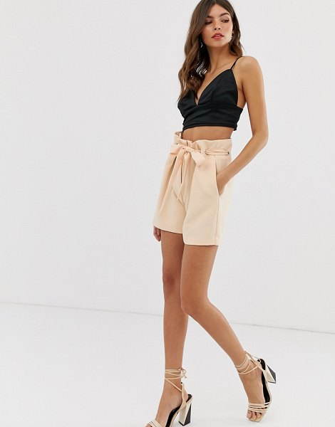 Y.a.s eyelet tie waist shorts in sunkiss