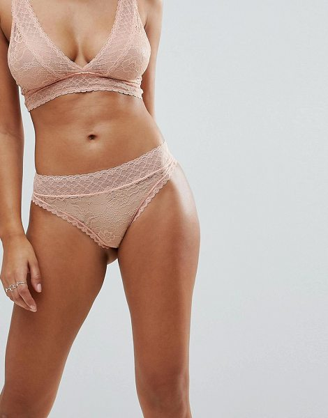 Y.a.s lace brief in pink - Briefs by Y.A.S, It's all about that base, Mid-rise...