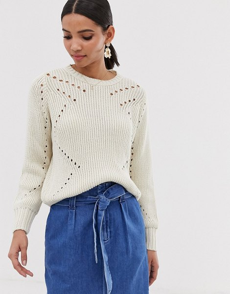 Y.a.s lightweight cable knit sweater-cream in cream