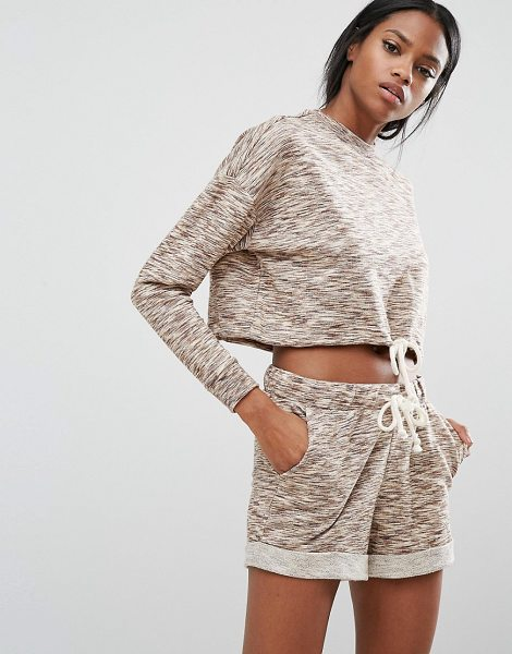 Y.A.S Lounge Sweat Top Co-Ord - Sweatshirt by Y.A.S, Loop-back sweat, High neck, Dropped...