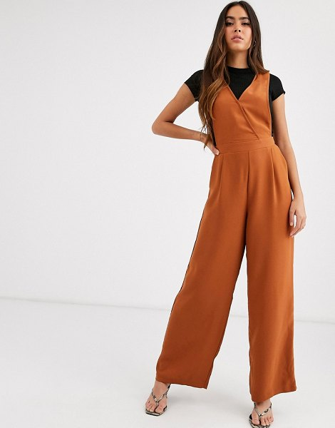 Y.a.s sleeveless jumpsuit in brown in brown