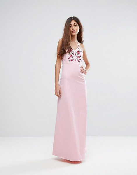 "Y.A.S Studio Embroidered Maxi Dress in ballerina - """"Maxi dress by Y.A.S, Smooth woven fabric, Fully lined,..."