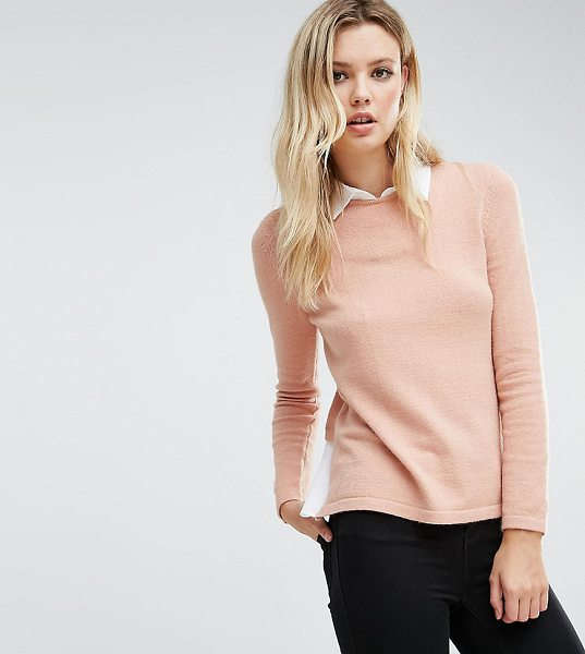Y.A.S TALL 2 In 1 Sweater With Shirt Underlay - Tall sweater by Y.A.S. Tall, Soft-touch knit, Shirt...