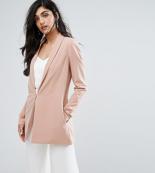 "Y.A.S Tall Clady Summer Blazer in pink - """"Blazer by Y.A.S. Tall, Textured stretch fabric, Padded..."