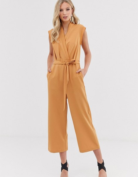 Y.a.s wrap sleevless cropped jumpsuit-cream in cream