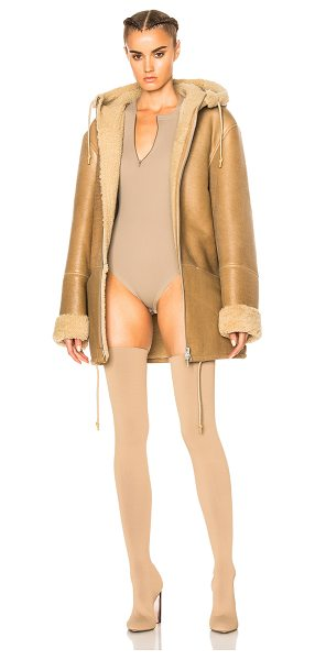 YEEZY Season 3 Hooded Lamb Shearling Jacket in natural - Self: 100% lambskin leatherLining: 100% real dyed lamb...