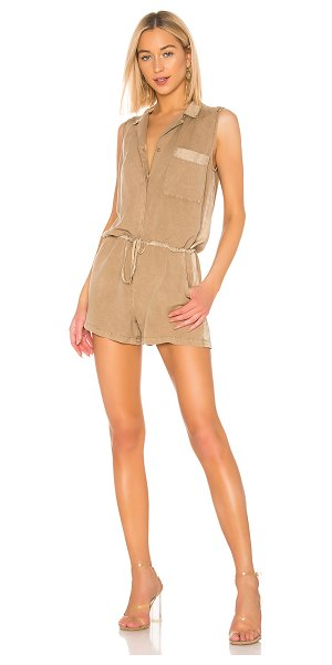 YFB CLOTHING lorren romper in khaki