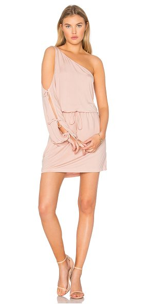 YFB CLOTHING Lula Dress in pink sand - 96% cupro 4% spandex. Hand wash cold. Unlined. Split...