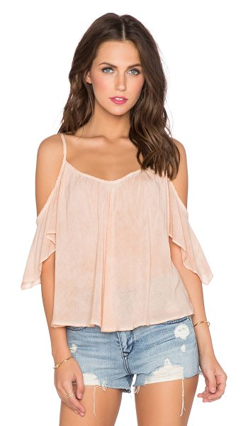 YFB CLOTHING Pearlie top in peach - 100% rayon. Hand wash cold. Adjustable shoulder straps....