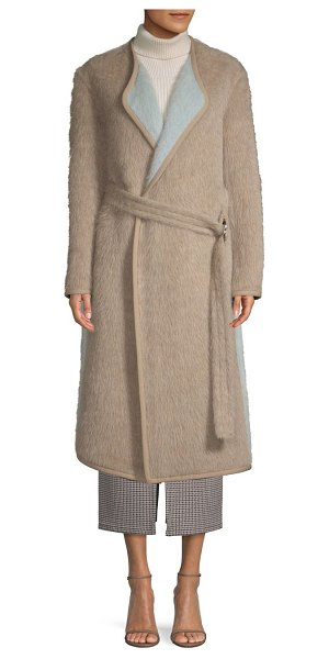 Yigal Azrouel reversible belted alpaca coat in camel multi - From the Saks IT LIST STATEMENT OUTERWEAR From sleek and...