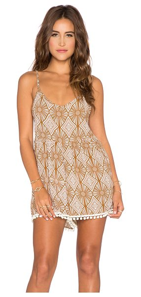 YIREH Wild daisy romper in taupe