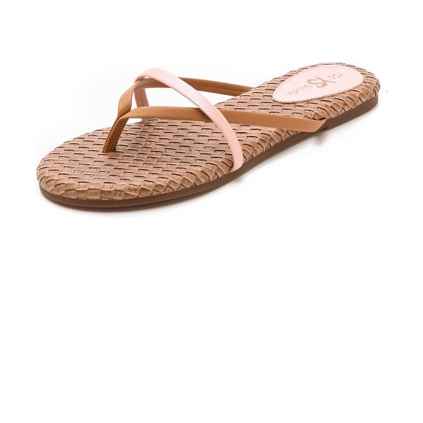 Yosi Samra River flip flops in sienna - Slim, two tone faux leather straps lend a polished feel...