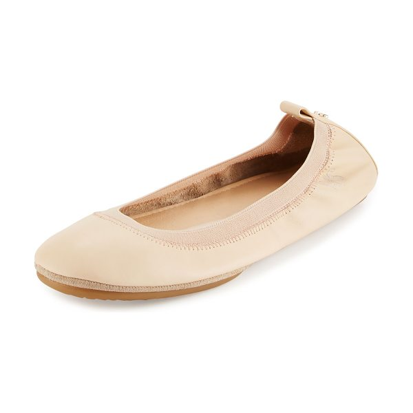 Yosi Samra Samara 2.0 Packable Ballerina Flat in flesh