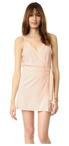 Young Fabulous & Broke Yfb clothing alberta dress in nude - A sharp seamed Young Fabulous & Broke wrap dress...