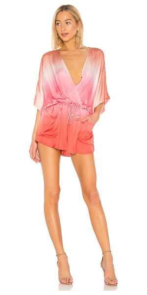 Young Fabulous & Broke ashby romper in hot pink ombre