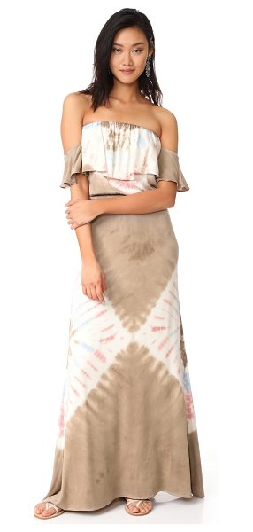 YOUNG FABULOUS & BROKE ayana dress in mocha/white diamond splash - This lightweight Young Fabulous & Broke maxi dress is...