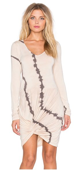 Young Fabulous & Broke Bobbi Dress in beige - 92% modal 8% spandex. Hand wash cold. Unlined. Front...