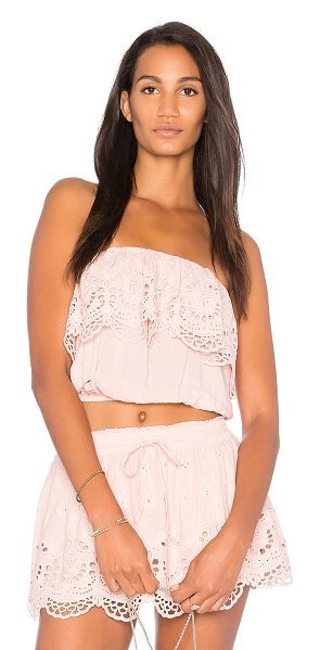 Young Fabulous & Broke Caicos Top in pink - 70% rayon 30% cotton. Hand wash cold. Elasticized...