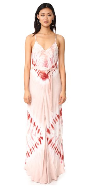 YOUNG FABULOUS & BROKE carla maxi dress - A hazy tie-dyed wash lends a beachy look to this...