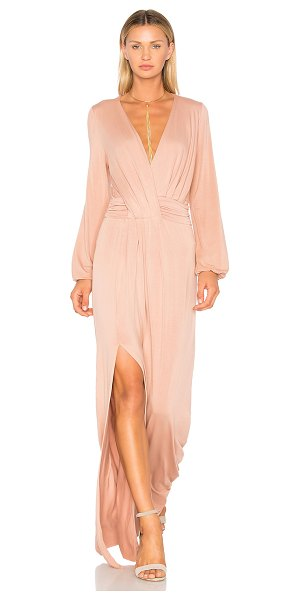 YOUNG FABULOUS & BROKE Chontel Dress - Modal blend. Hand wash cold. Partially lined. Surplice...