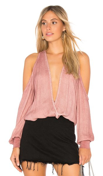YOUNG FABULOUS & BROKE Date Nite Top - 100% rayon. Crossover front neckline. Shoulder cut-outs....