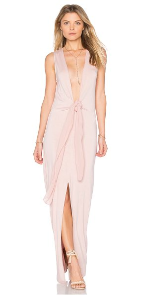 Young Fabulous & Broke Francesca Dress in pink - Self: 92% modal 8% spandexContrast: 100% viscose. Hand...