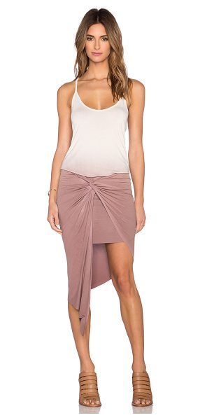 Young Fabulous & Broke Kulani dress in beige - 92% modal 8% spandex. Hand wash cold. Unlined. Draped...