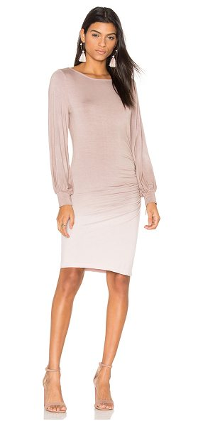 Young Fabulous & Broke Landon Dress in taupe - 92% modal 8% spandex. Hand wash cold. Unlined. Open...