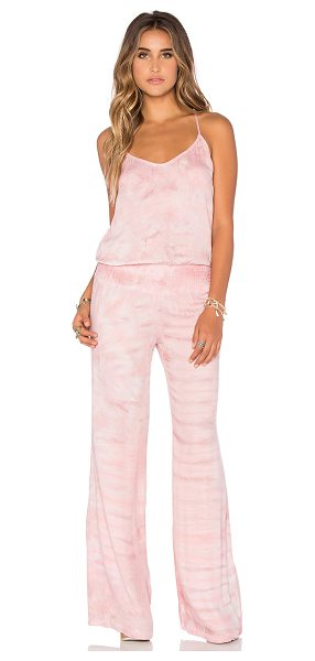 Young Fabulous & Broke Macao jumpsuit in pink - 100% rayon. Hand wash cold. Adjustable shoulder straps....