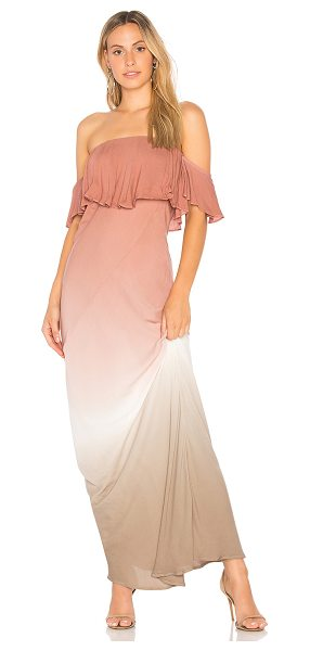 Young Fabulous & Broke Nell Maxi Dress in mauve - 100% rayon. Hand wash cold. Unlined. Elasticized...
