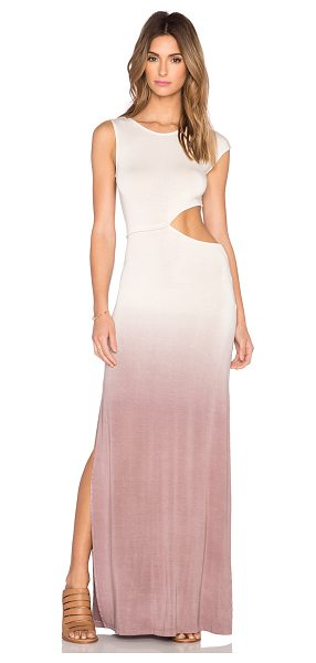 YOUNG FABULOUS & BROKE Sia maxi dress in beige - 92% modal 8% spandex. Hand wash cold. Unlined. Side...