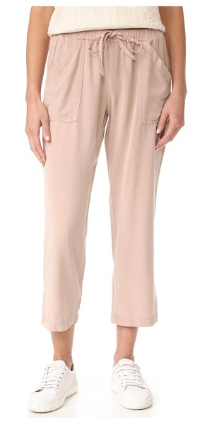 YOUNG FABULOUS & BROKE yfb clothing field pants in sand rose - Casual Young Fabulous & Broke pants in a dusty, brushed...