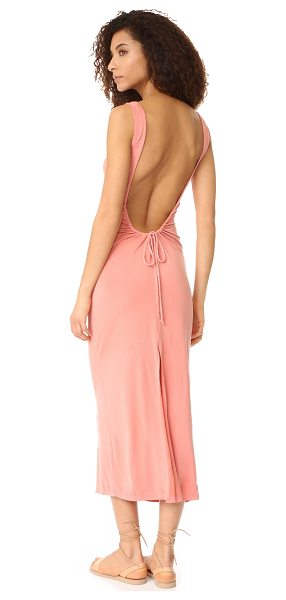 YOUNG FABULOUS & BROKE yfb clothing isabel maxi dress in baked coral - NOTE: Runs true to size. A draped Young Fabulous & Broke...