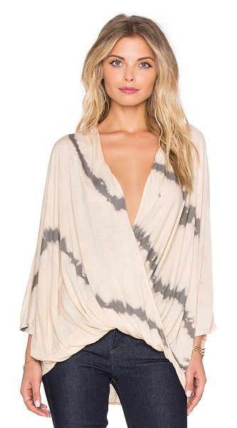YOUNG FABULOUS & BROKE Zayna top - 100% modal. Hand wash cold. Surplice neckline with snap...
