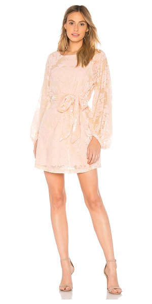 Yumi Kim Bellflower Dress in blush - Self: 65% viscose 35% nylonLining: 100% poly. Dry clean...