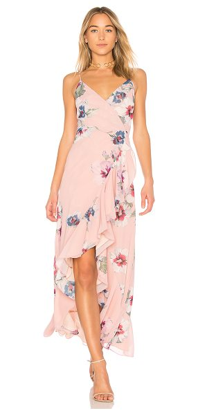 Yumi Kim Cross Roads Maxi Dress in blush - Self & Lining: 100% poly. Dry clean only. Fully lined....