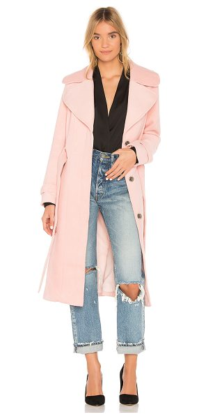 Yumi Kim Double Agent Coat in blush - Self: 70% poly 30% woolLining: 100% poly. Dry clean...