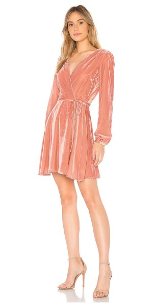 YUMI KIM Duchess Wrap Dress in rose - 77% viscose 23% nylon. Dry clean only. Unlined. Wrap...