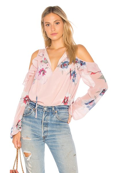 Yumi Kim Stella Cold Shoulder Top in pink - Self & Lining: 100% poly. Dry clean only. Front keyhole...
