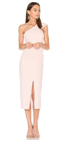 "Yumi Kim That Jazz Midi Dress in blush - ""Poly blend. Dry clean only. Fully lined. Lightly padded..."