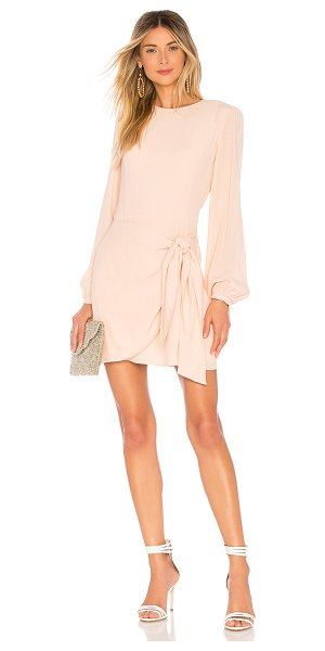 Yumi Kim Tie Me Over Dress in blush - Self: 50% viscose 50% rayonLining: 100% poly. Fully...