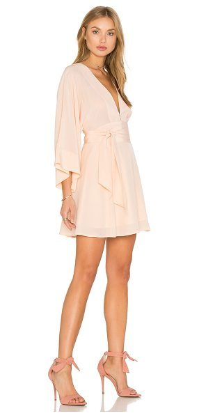 Yumi Kim Tokyo Night Kimono Dress in pink - Self: 100% silkLining 100% poly. Dry clean only. Fully...