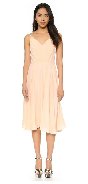 Yumi Kim Venus dress in blush - A delicate Yumi Kim dress with ruched surplice bodice...