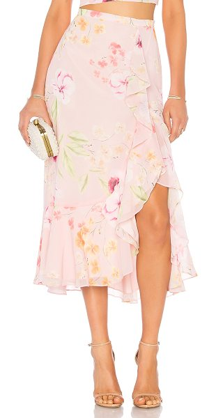 "Yumi Kim Waterfall Skirt in pink - ""Self & Lining: 100% poly. Dry clean only. Fully lined...."