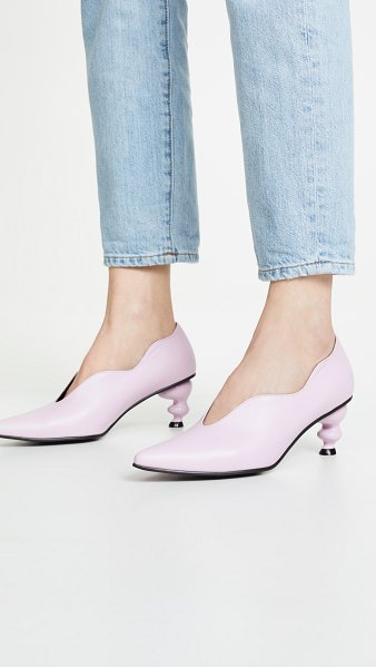 Yuul Yie haze pumps in baby pink - Exclusive to Shopbop Leather: Cowhide Sculpted, acrylic...