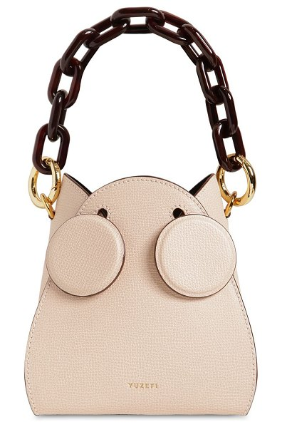 Yuzefi Pepper leather bucket bag in blush